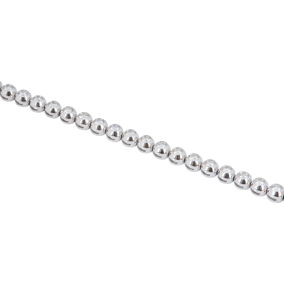 White Gold Diamond Line Bracelet 2.74ct G-H/VS+
